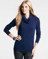 Merino Wool Blend Side Zip Sweater - Designed in a luxe merino wool blend, our always flattering cowl neck sweater gets a fresh update in rich new colors, accented with exposed metallic side zippers for an unexpected touch. Cowl neck. Long sleeves. Exposed metal side zippers. Ribbed cuffs and hem.