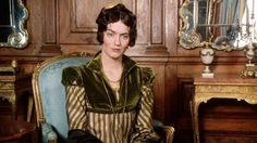 "sassy stripes for the sourpuss Miss Bingley from the perfect ""Pride & Prejudice"" adaption"