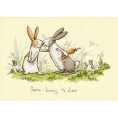"Grußkarte ""Some bunny to love"" Anita Jeram - one of my favourite rabbit artists. I actually have this card on my mood board."