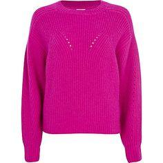 Bright pink angora cocoon jumper - jumpers - knitwear - women