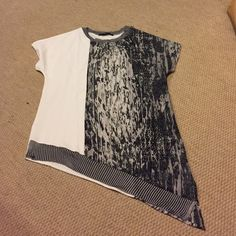 Zara asymmetrical printed top New without tags. Zara Tops Tees - Short Sleeve