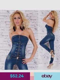 e44edab11 Jumpsuits & Rompers #ebay #Clothing, Shoes & Accessories Overol Mujer,  Mujeres,