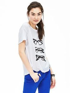 Love this glasses graphic tee from Banana Republic.