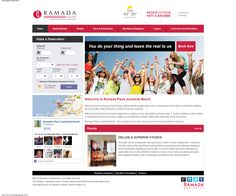 Ramada JBR – Full Responsive Website    Located in the heart of Dubai's new business and leisure hub, the Ramada Plaza Jumeirah Beach sought our services to design and implement a full responsive website.    Ramada JBR wanted an online website for their commercial activities for what was at the time, their new property.