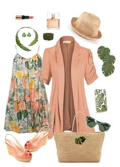 """""""Peachy"""" by lmello on Polyvore featuring Ami Sanzuri, Dorothy Perkins, L.K.Bennett, J.Crew, Hat Attack, Bernard Delettrez, Givenchy, Bobbi Brown Cosmetics, Pier 1 Imports and Casetify"""