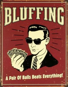 'Bluffing' Tin Sign – | AllPosters.com Source by jumbojimmyjumbo The post 'Bluffing' Tin Sign – | AllPosters.com appeared first on Susannah Kenny Interiors.