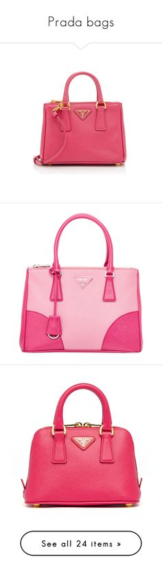 """""""Prada bags"""" by missloveschic ❤ liked on Polyvore featuring bags, handbags, shoulder bags, pink, pink crossbody, crossbody shoulder bags, pink purse, prada crossbody, mini shoulder bag and tote bags"""