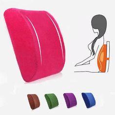 #AdoreWe #NewChic NewChic Elastic Band Plush Memory Office Chair Cushion Lumbar Back Pillow - AdoreWe.com