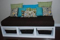 re-purpose a crib mattress. by annabelle
