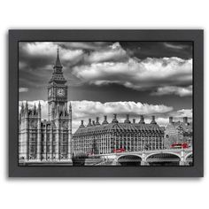 Americanflat London Big Ben & Red Bus Framed Wall Art ($110) ❤ liked on Polyvore featuring home, home decor, wall art, backgrounds, multicolor, colorful home decor, london wall art, framed wall art, red home accessories and big ben clock