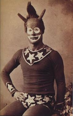 Vintage Barnum and Bailey clown          Vintage Barnum & Bailey clown.     mudwerks:mabelmoments:(via)