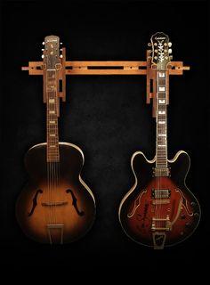 Cherry and Walnut Dual Wall Mount Guitar Hanger… http://atlas-stands.com/gear/stock/