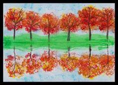 Podzimní krajina – odraz na vodní hladině Fall Crafts For Kids, Art For Kids, Reflection Art, Fall Art Projects, 2nd Grade Art, Egg Carton Crafts, Art Curriculum, Autumn Art, Art Classroom