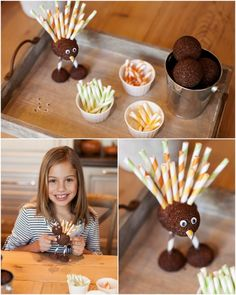How to make a foam turkey. Fun craft for kids at Thanksgiving