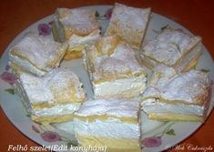 Felhő szelet Hungarian Recipes, Just Desserts, Camembert Cheese, Food And Drink, Dairy, Cooking Recipes, Sweets, Cakes, Country