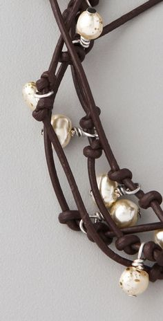 Pearl and Leather necklace/bracelet