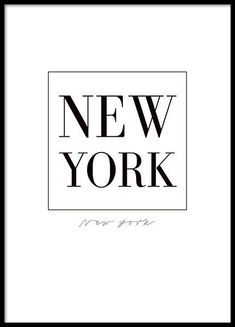 New york poster. More interior and typographical art prints can be found at desenio. New York Poster, City Poster, New York Black And White, Black And White Posters, Black And White Prints, New York Tumblr, Poster 70x100, Image Tumblr, New York Tipps