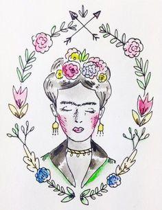 Embroidery face drawings 39 new ideas Frida Art, Desenho Tattoo, Mexican Artists, Diego Rivera, Artist Art, Art Inspo, Watercolor Art, Art Projects, Art Drawings