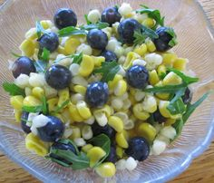 Sweet Corn & Blueberry Saladita