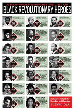 (Black History) -- A Far-from-Exhaustive-List Black Revolutionary Heroes Black History Facts, African American History, World History, American Women, African American Inventors, Black History Books, History Museum, American Art, Art Afro