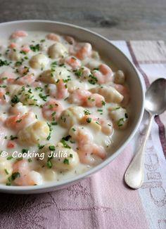 Je vous avais promis une recette pour utiliser les gnocchi de pommes de terre dont j'ai publié la recette avant-hier. Repérée sur Pinterest...