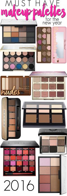 10 Must Have Makeup Palettes for the New Year!