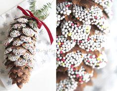 seidenfeins Dekoblog: DIY Zuckerzapfen * candy pinecones