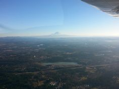 Great winter day to fly around #Seattle and the Puget sound. Here we are over my home in #Maplevalley. Looking good Mt. Rainier!