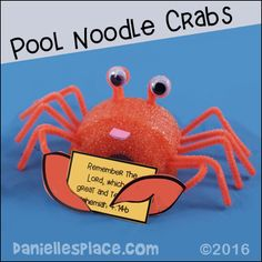 Pool Noodle Crab