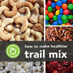 HEALTHIER TRAIL MIX RECIPES TO MAKE YOURSELF!!! Get your FREE copy of our Healthy Is Sexy Cheat Sheet here >> www.teamhealthyyou.com