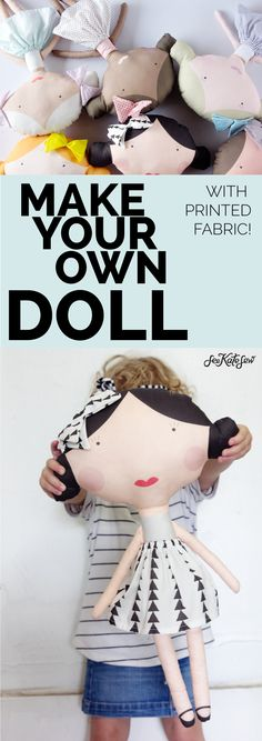 Make your own doll with printed fabric // see kate sew