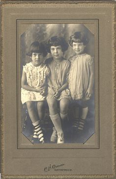 This is  my favorite photo from my personal collection. I love their dresses, stockings and shoes. The girls name left to right are Dona, Francis and June.   Images are free for you to use in your personal artwork but not for resale in any forum, including collage sheet and cd's. I would love to see any art you make with this. Credit is always appreciated. Thank you