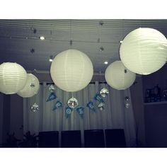 diy party lantern deco #frozen