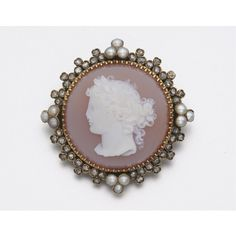GOLD, DIAMOND, PEARL AND CARNELIAN CAMEO BROOCH, CIRCA 1880 | lot | Sotheby's