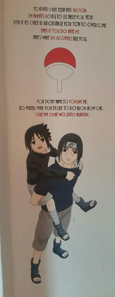 Wall painting | Anime/manga: Naruto [Sasuke & Itachi Uchiha] Sasuke And Itachi, Death Note, Tokyo Ghoul, My Arts, Batman, Lovers, Inspirational, Manga, Memes