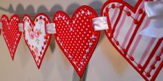 """Love Heart Banner In The Hoop Banners Machine Embroidery Designs Applique Patterns all done In-The-Hoop in 3 sizes 4"""", 5"""", 6"""" by BigDreamsEmbroidery on Etsy https://www.etsy.com/listing/85316755/love-heart-banner-in-the-hoop-banners"""