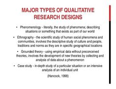 1/2 - Types of Qualitative research