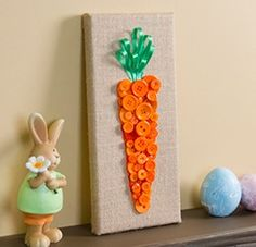 If you carrot all about your seasonal home decor, decorate with this Burlap Button Carrot Art this Spring! Get everything you'll need to make it at your local Pat Catan's today!