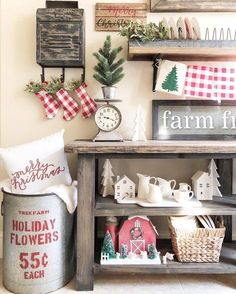 Christmas farmhouse