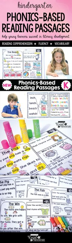 These pre-made reading passages take the stress out of developing lesson plans & allow you to focus on building relationships with your students. These reading passages provide endless possibilities to a great year of learning!