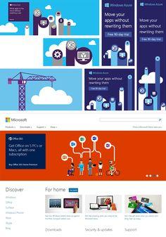 Microsoft Illustrations on Behance