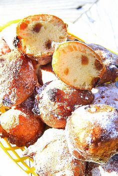 Fritule, also called Uštipci, is a festive Croatian pastry resembling little doughnuts, made particularly for Christmas. They are somewhat similar to Italian zeppole and venetian Frìtole, but are usually flavored with brandy and citrus zest, containing raisins, and are topped with powdered sugar.