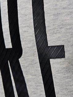 3D PRINTED REGULAR FIT HOODIE, Treated White