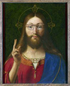 """Andrea Previtali, Christus googelt (um 1512) – Google Glass Edition """"Xmas"""""""