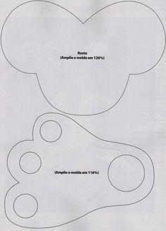 Moldes Para Artesanato em Tecido: Trilho de mesa de coelho com moldes