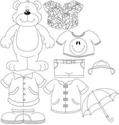 Weather Bear (or dress-up bear) with link to LOTS of