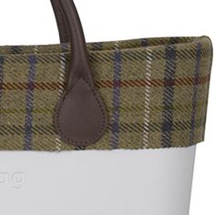 tartan wool trim - green - an O bag classic accessory 95fae9a553974