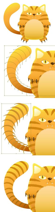 Create a Tiger Striped Cat with Illustrator Illustration tutorial