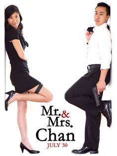 mr-and-mrs-chan-engagement-photos mr and mrs smith inspired enagement photots wedding photo ideas weding party blog
