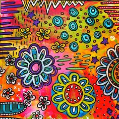 I LOVE to art journal....it just makes me happy.       As you can see ....I really like bright colors:):)         ...